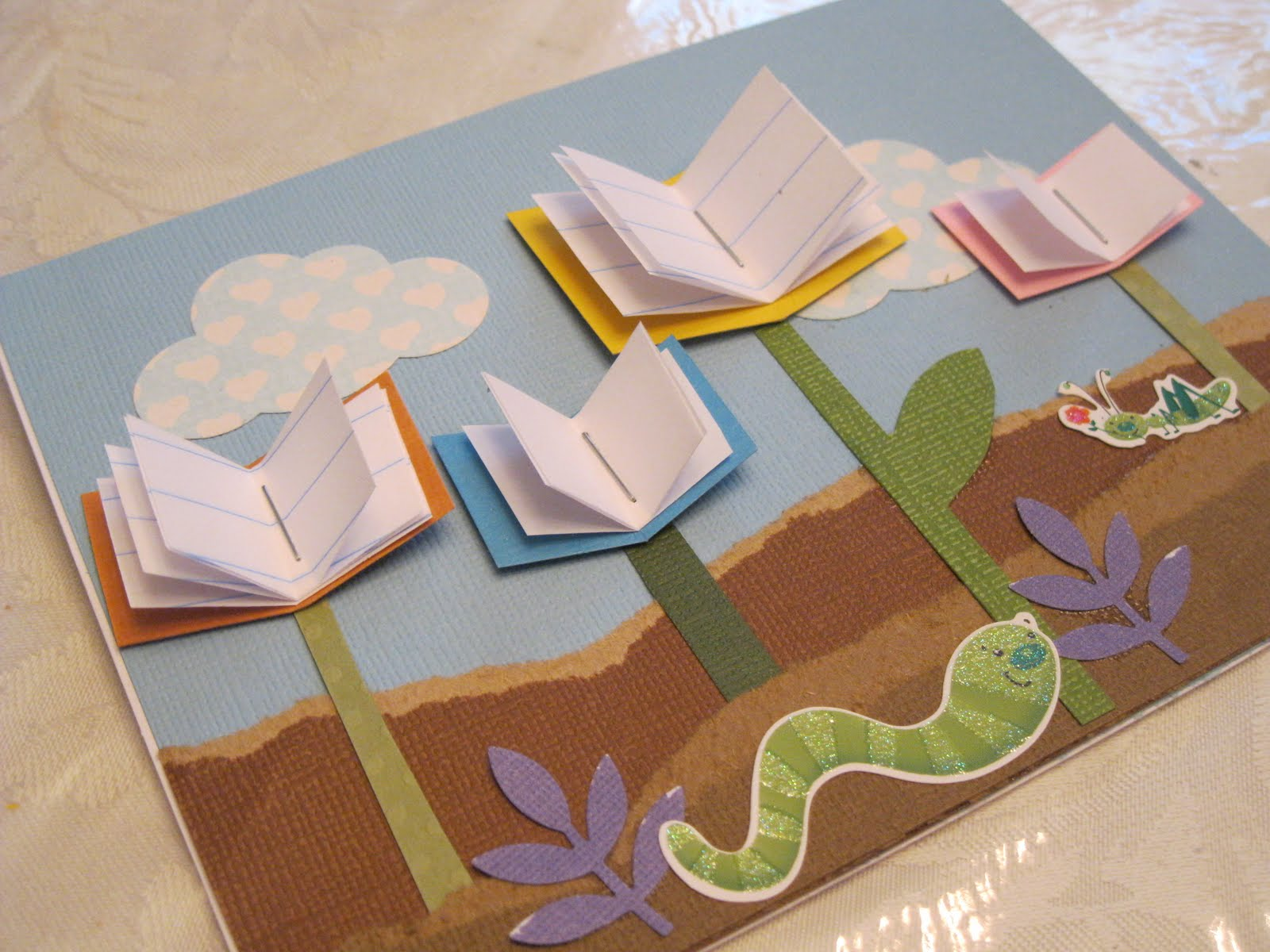 Whimsical ways library thank you card for Album de la decoration