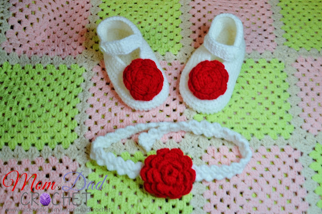 crochet, baby booties, headband