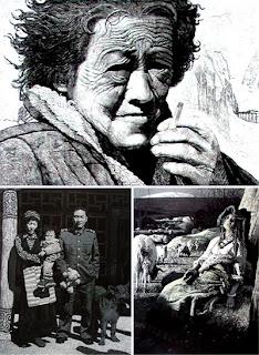 Современный офорт и гравюра Китая