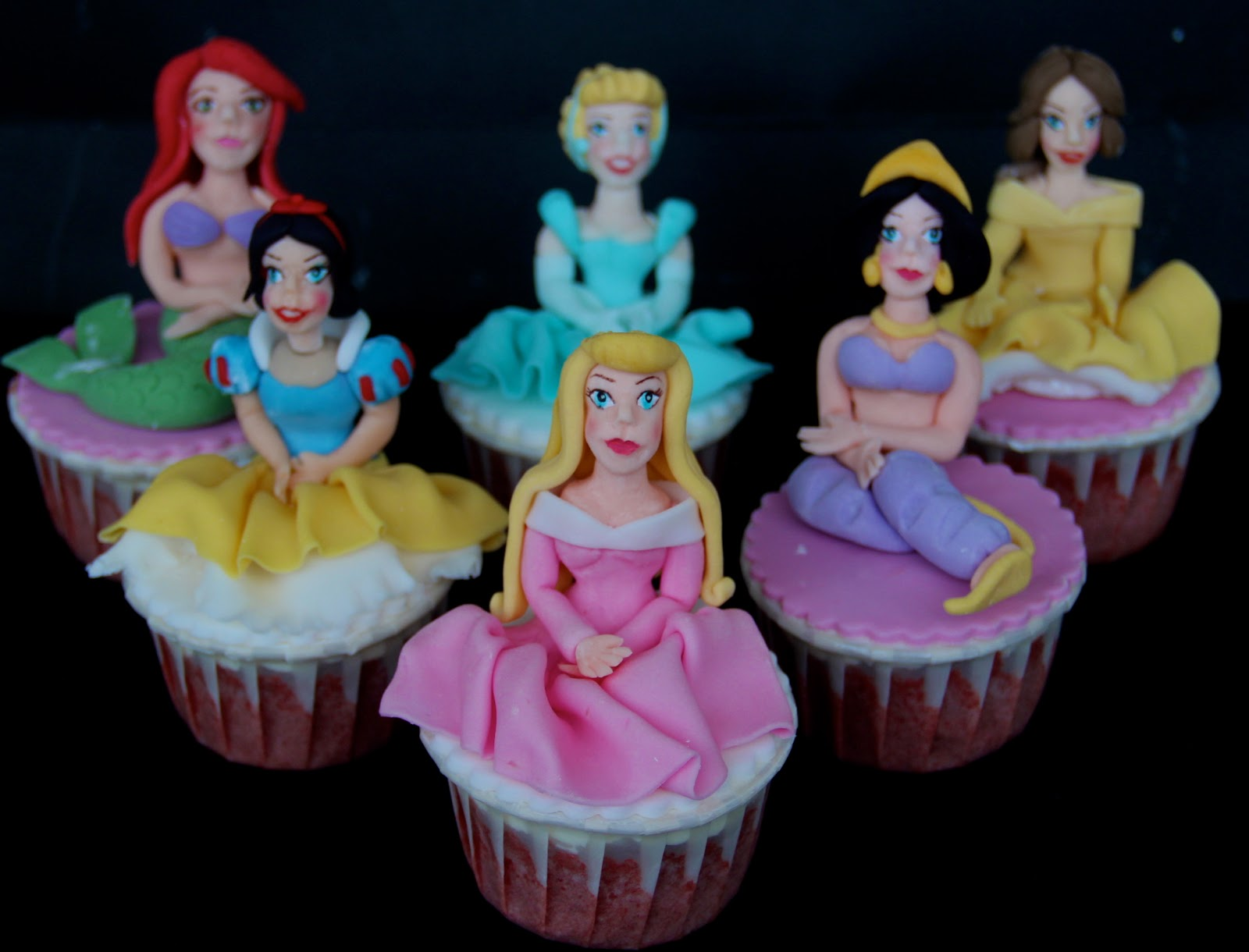 Princess Cupcake Images : Ema s Creation: Disney Princess Cupcake