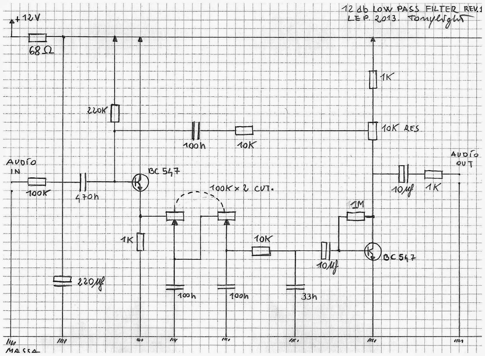 Leploop 12 Db Low Pass Lep Filter Audio Circuit A Small Revision For The This Schematics Is Calibrated Volt Use Here An High Version Of Same