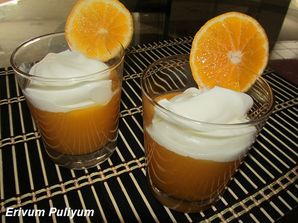 Citrus Pudding with Whipped Cream