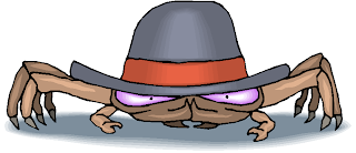Funny Crab Wear a Hat Free Clipart