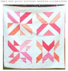Free Clementine Quilt pattern