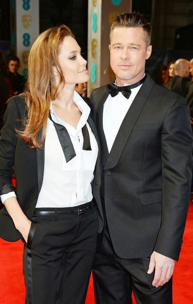 Angelina Jolie Brad Pitt 2014 BAFTA Awards