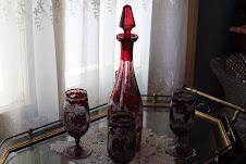 Ruby glass.