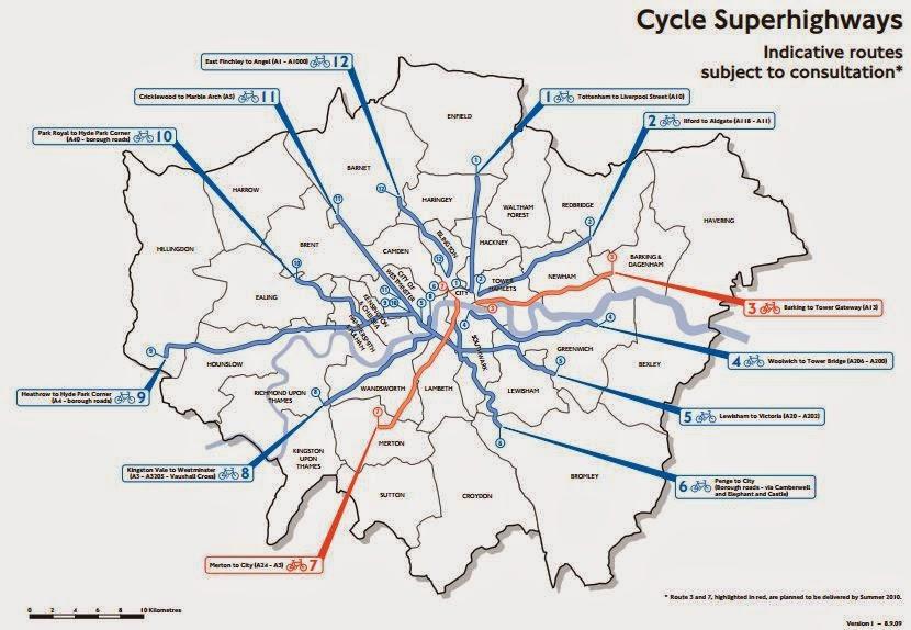 Hackney cyclist Cycle Superhighway 1