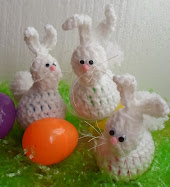 crochet bunny easter egg holders tutorial