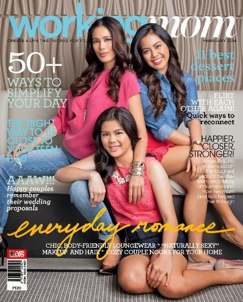 Angel Aquino and Daughters Cover Working Mom Magazine February 2014 Issue