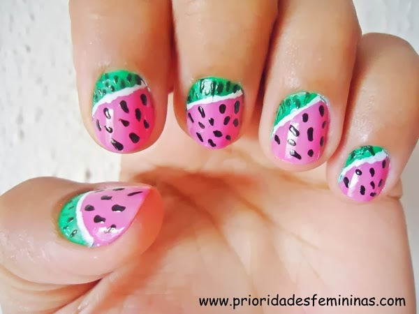 nail art fruit, unhas decoradas com frutas