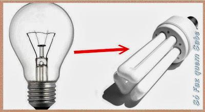Substituir as lâmpadas incandescentes por outras mais eficientes.