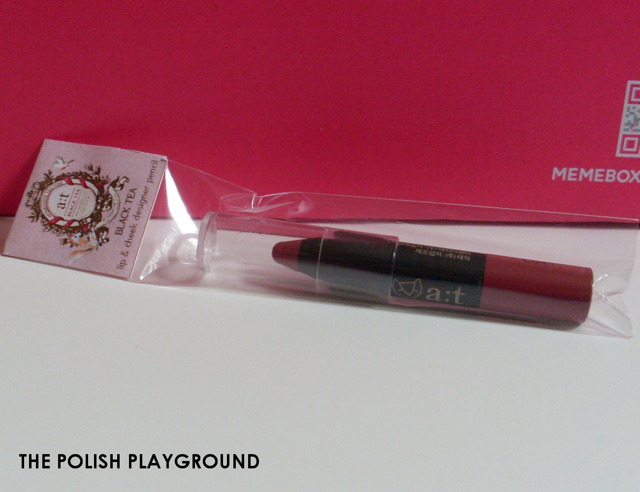 Memebox Global #14 Unboxing - a;t fox Fantasy Holic Lip & Cheek Designer Pencil in 03 Rose Beige