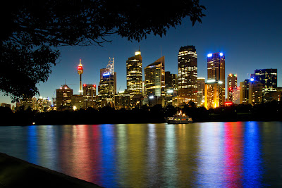 A photograph of the Sydney Skyline, Australia