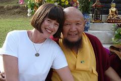 Lama Gangchen e Rute Cardoso no sitio Vida de Clara Luz em SP