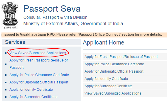 Supporting documents required for passport free online seva for Documents checklist passport