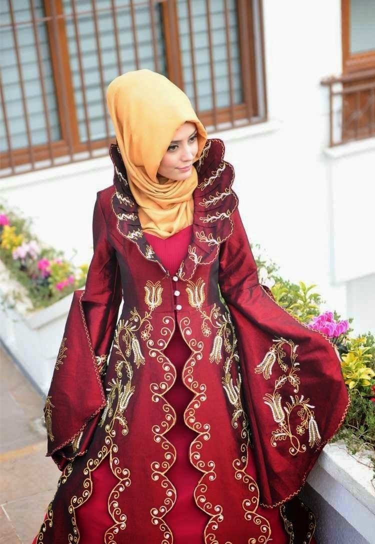 2014 Tesettürlü Bindallı Modelleri, Tesettürlü Kına Elbisesi