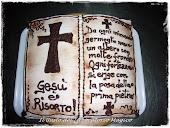 """Torta a libro """"La Bibbia"""""""