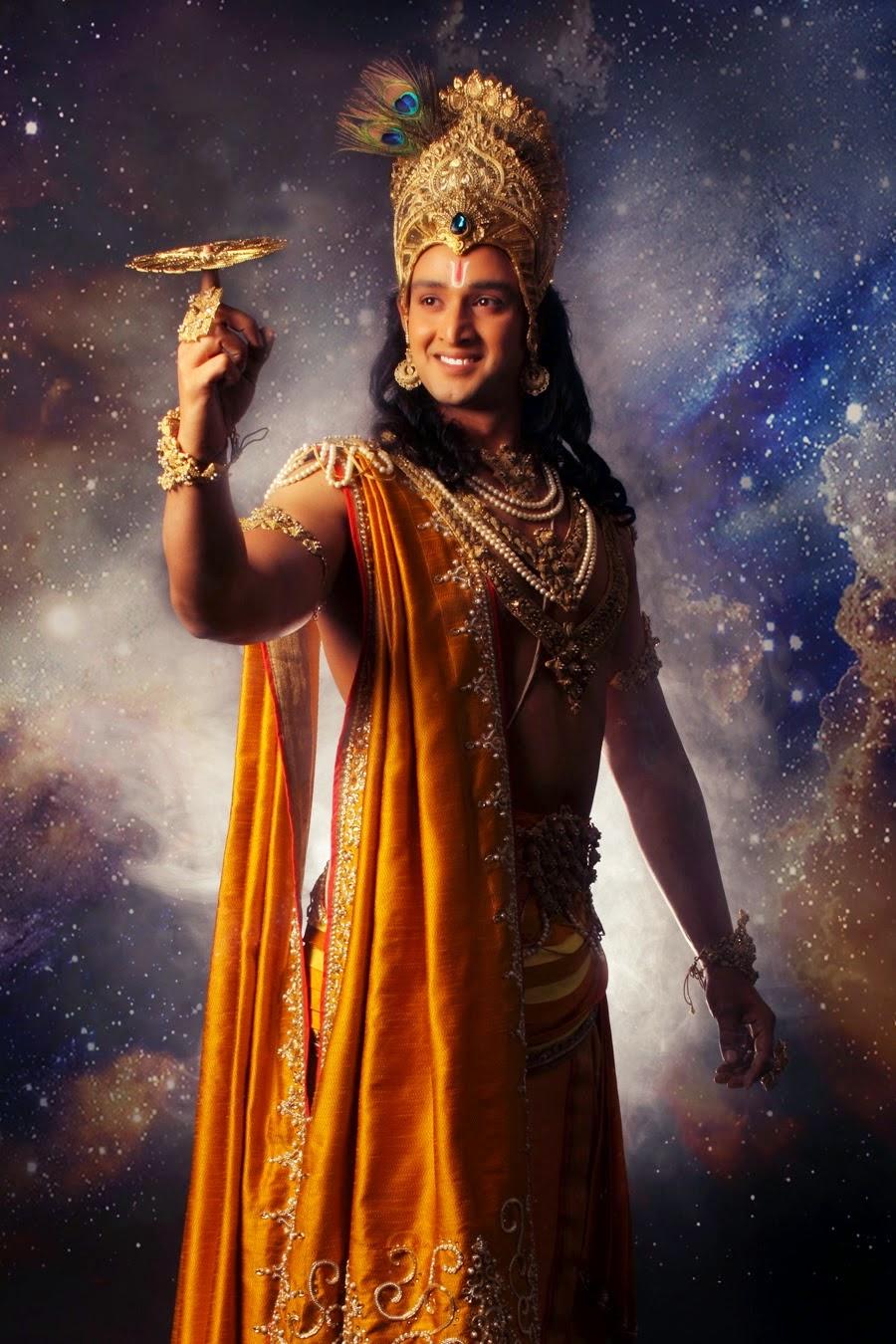Bhagwan Shri Krshna with Sudarshana Chakra