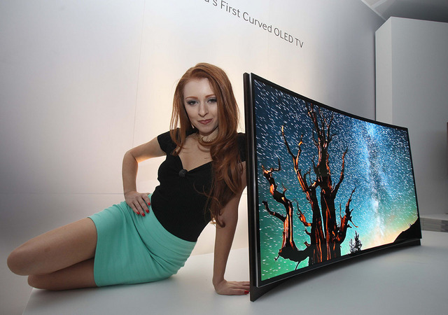 Samsung first curved OLED TV