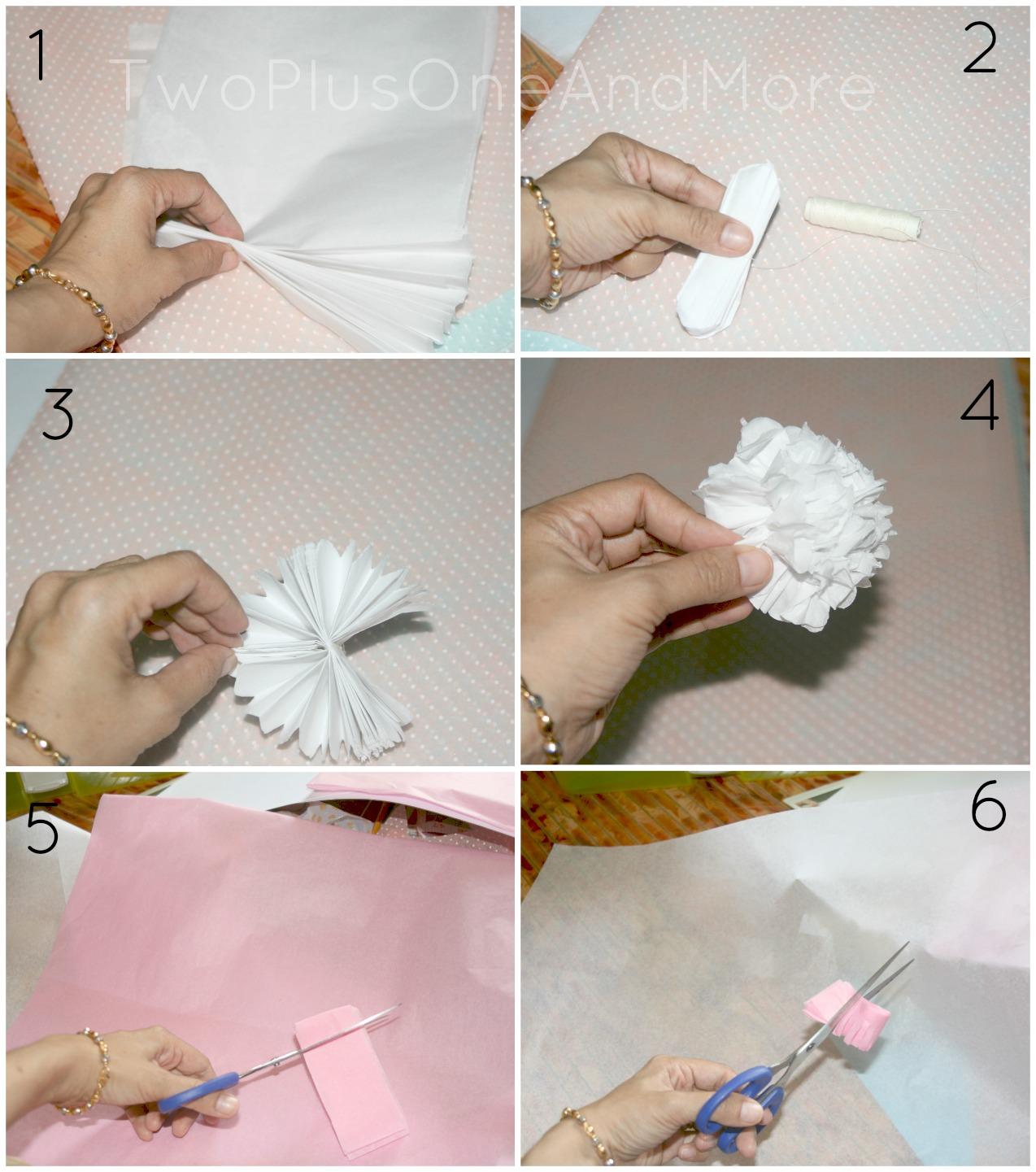 Two Plus One And More: Cara Membuat Bunga Kertas Yang