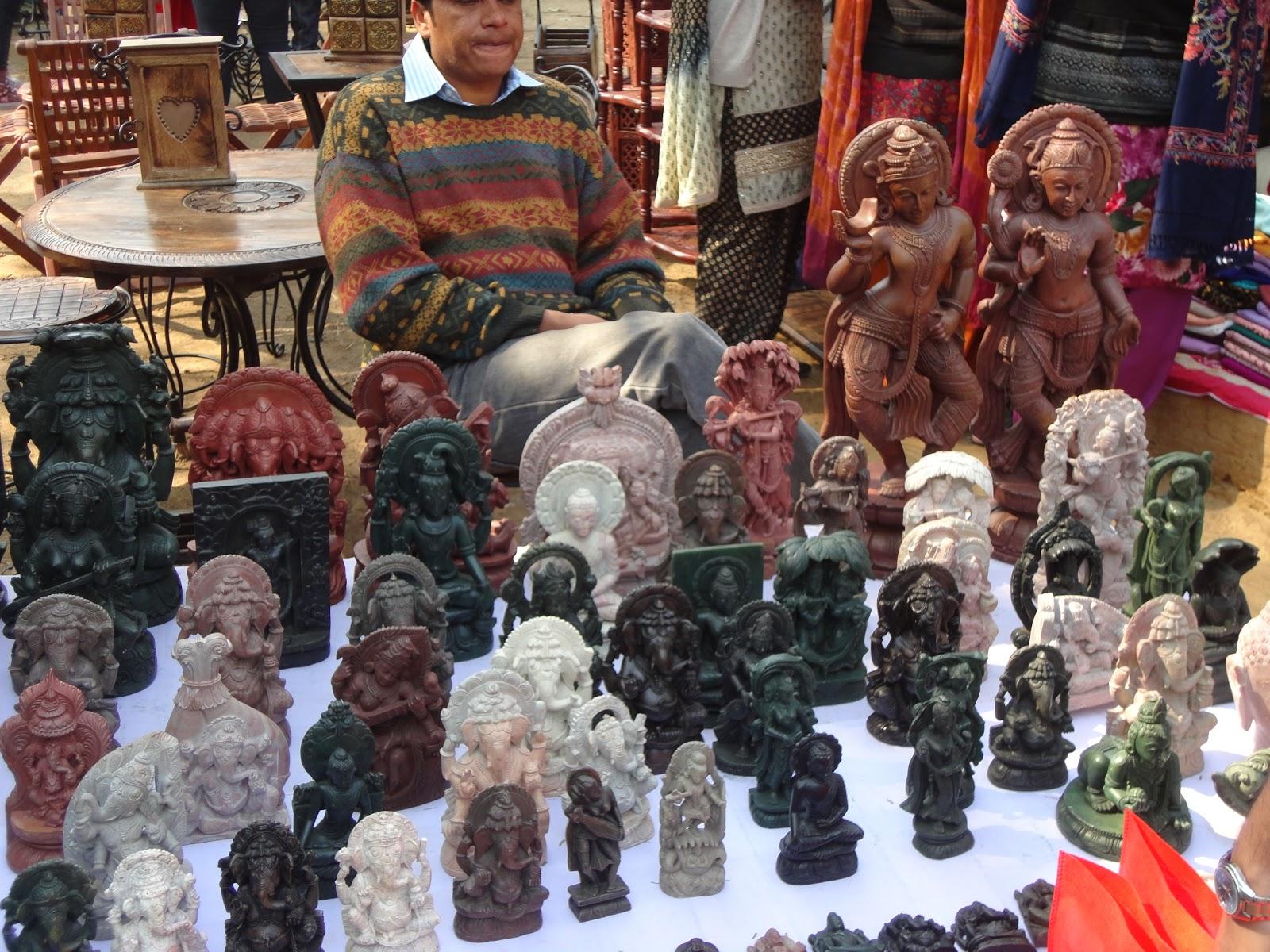 Stone Statuettes at Surajkund Crafts Mela,Surajpur