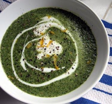 creamy radish greens soup