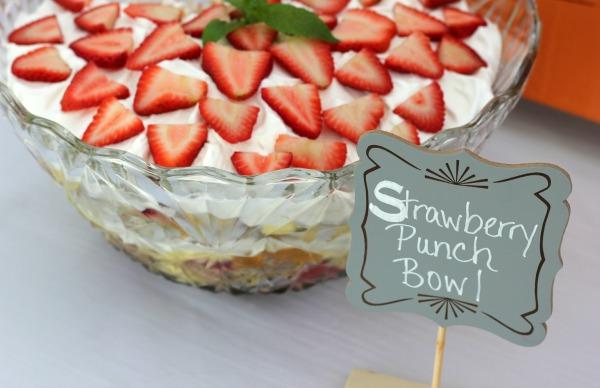 Strawberry Punch Bowl Cake