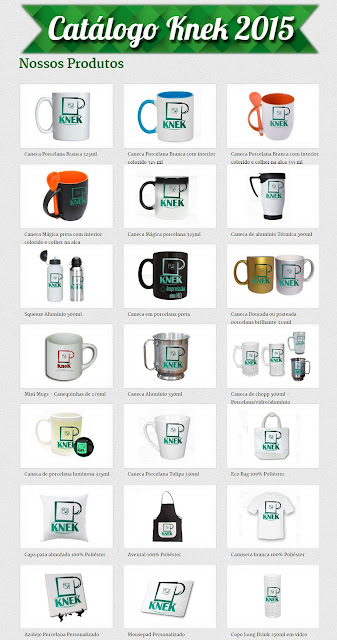 Catálogo online KneK - Canecas Personalizadas