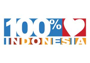 Download Logo 100% Cinta Indonesia | Download Logo 100% Love Indonesia