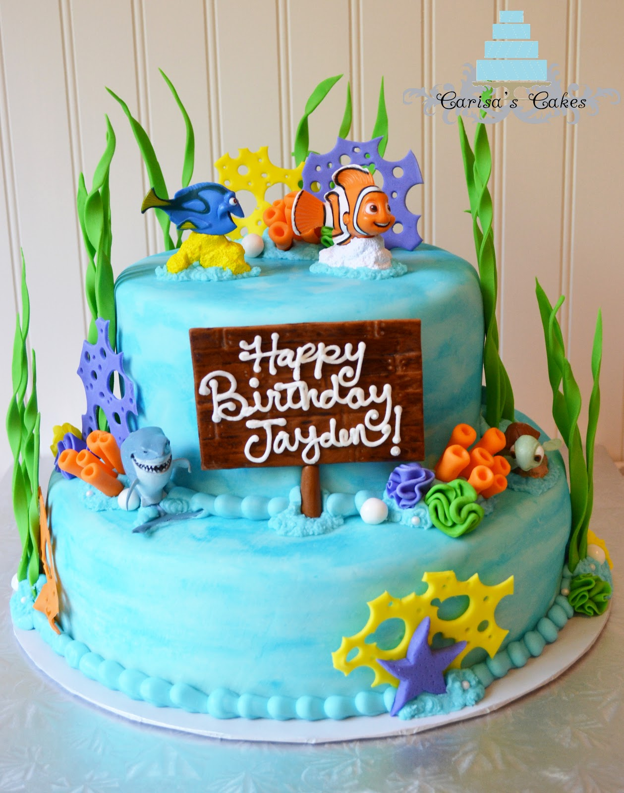 carisa 39 s cakes two tier finding nemo cake