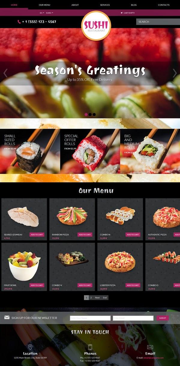 Sushi - Free Virtuemart Template