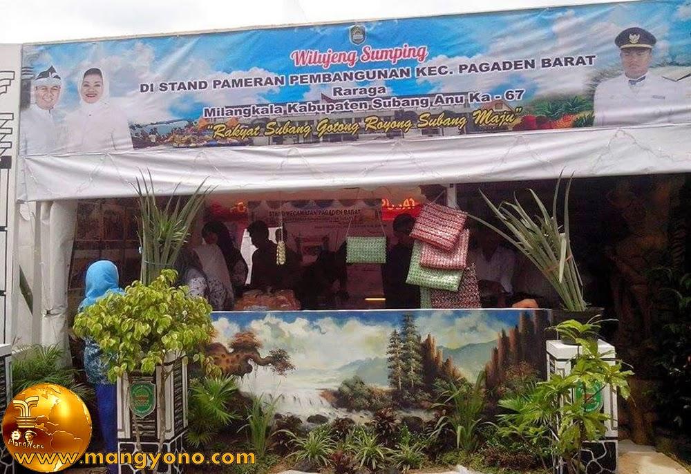 Stand Kec. Pagaden Barat, Pameran Pembangunan Kab. Subang 2015. Foto dari Mang Anwar Rudin, Facebooker Subang.