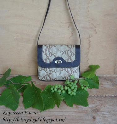сумочка из натуральной итальянской кожи питона