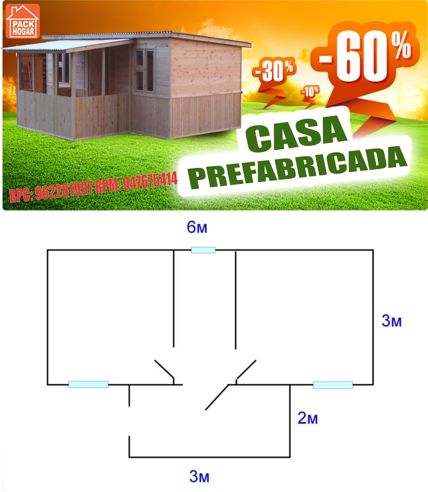 Chapa tu casa prefabricada y asegura tu lote ca ete - Tu casa prefabricada ...