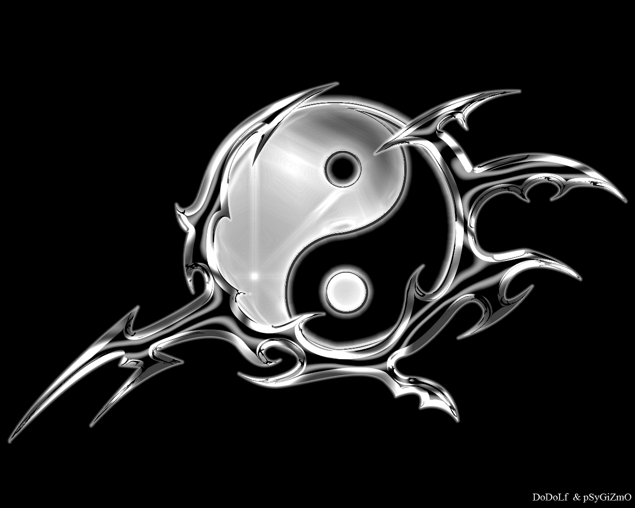 Yin Yang Tribal Wallpapers