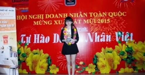 Hot girl 9x Huyền Cò - Doanh nhân trẻ nhất trong TOP 20 doanh nghiệp Việt xuất sắc năm 2014