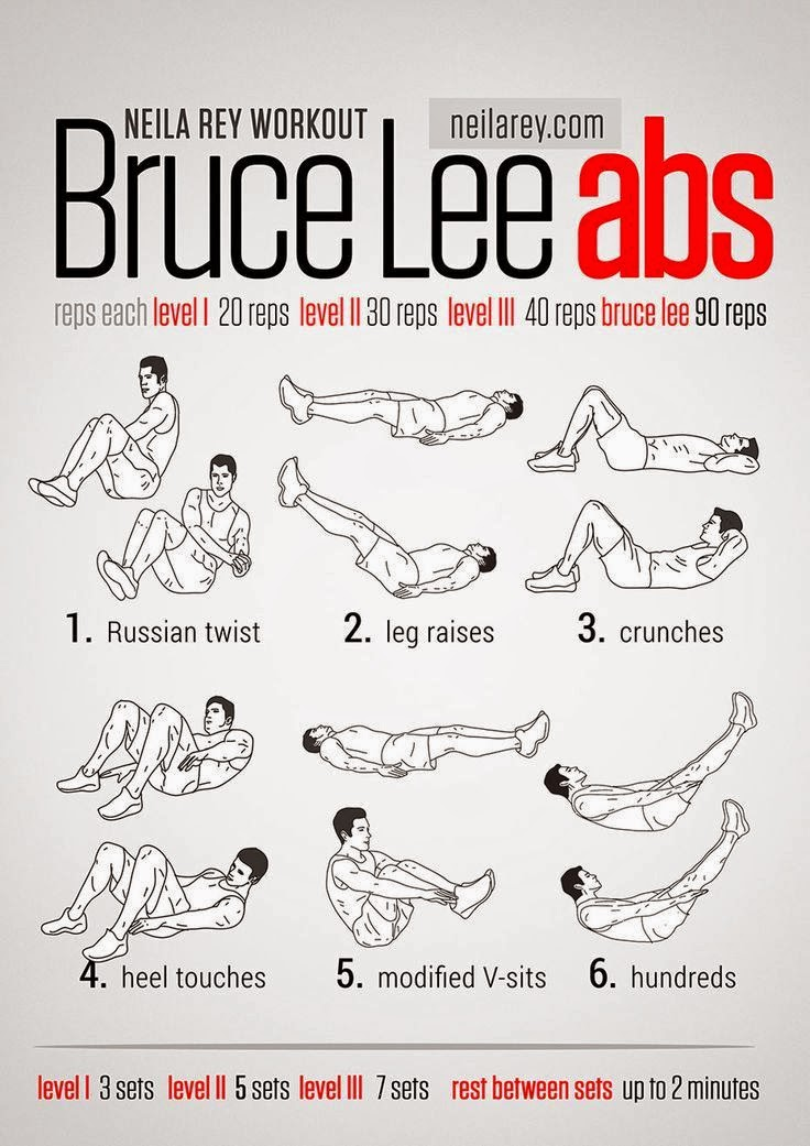 Workouts for your abs at the gym