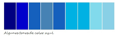 tonos color azu