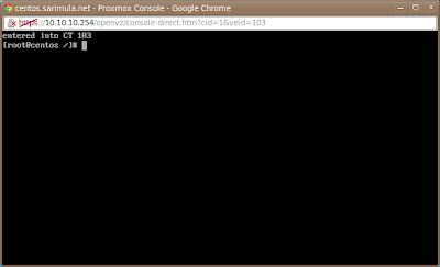 VNC console di Proxmox