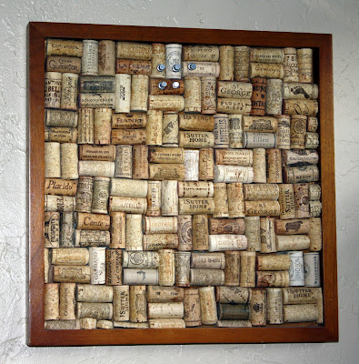 rectangular cork board, DIY - tipsyterrier.blogspot.com