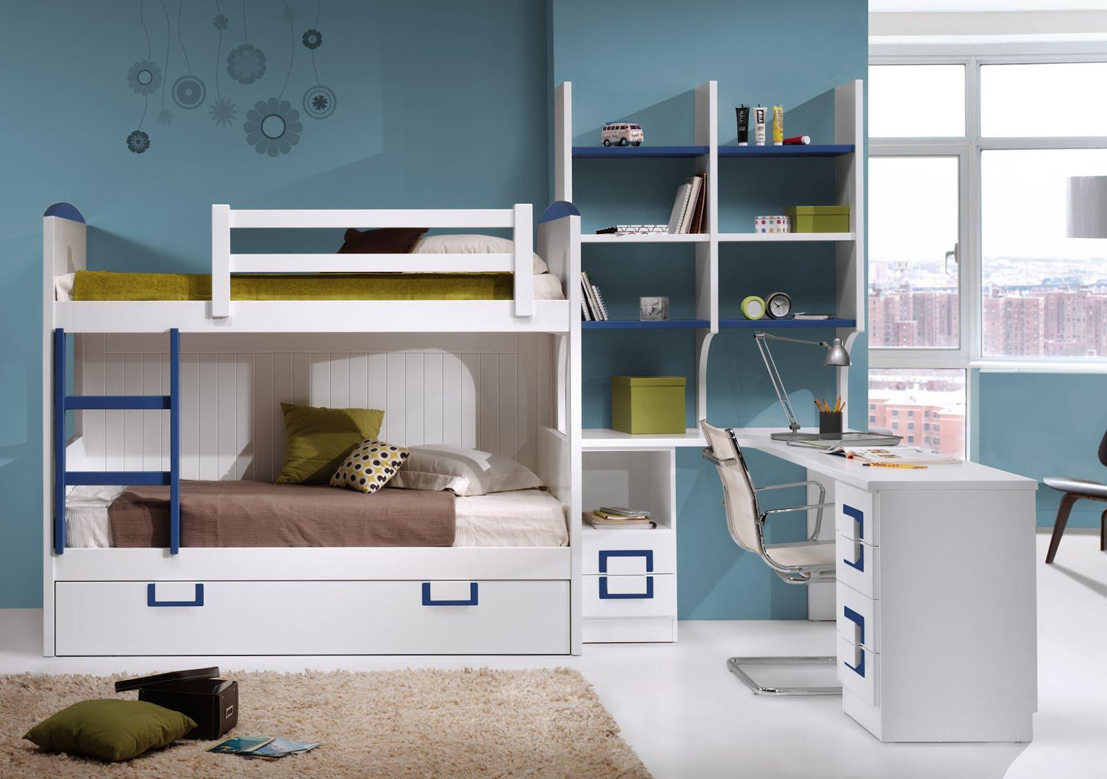 Litera con 3 camas trilitera lacada en blanco - Camas dormitorios infantiles ...