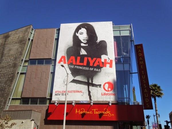 Aaliyah Lifetime movie billboard
