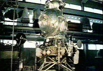 Lk Lunar Lander In Assembly Hall on Thermal Vacuum Chamber