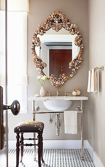 rock shell mirror