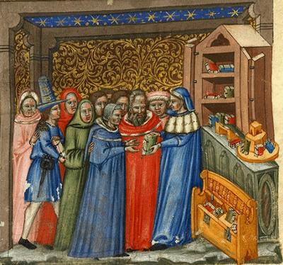 Una libreria medievale