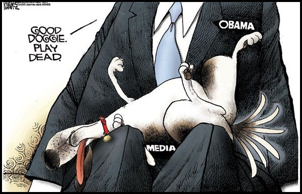 media stuck in obamas butt