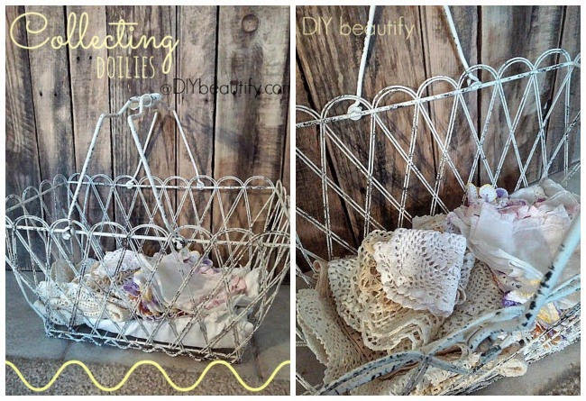 Collecting Vintage Doilies www.diybeautify.com