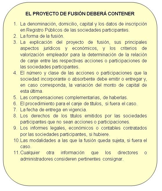 Características de un proyecto de fusión empresarial.