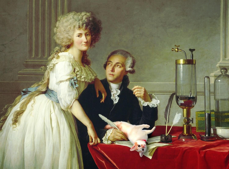 Antoine Lavoisier Marie-Anne Pierrette Paulze chemistry Chloe science cats Josef Spalenka