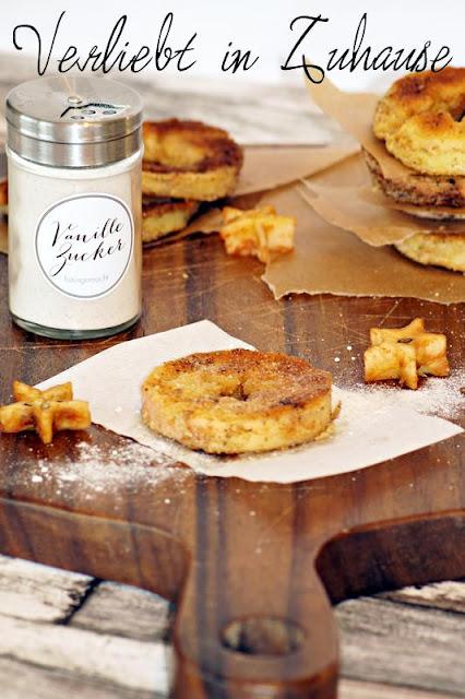 Panierte Apfelringe oder Apfelschnitzel, Rezept Blog